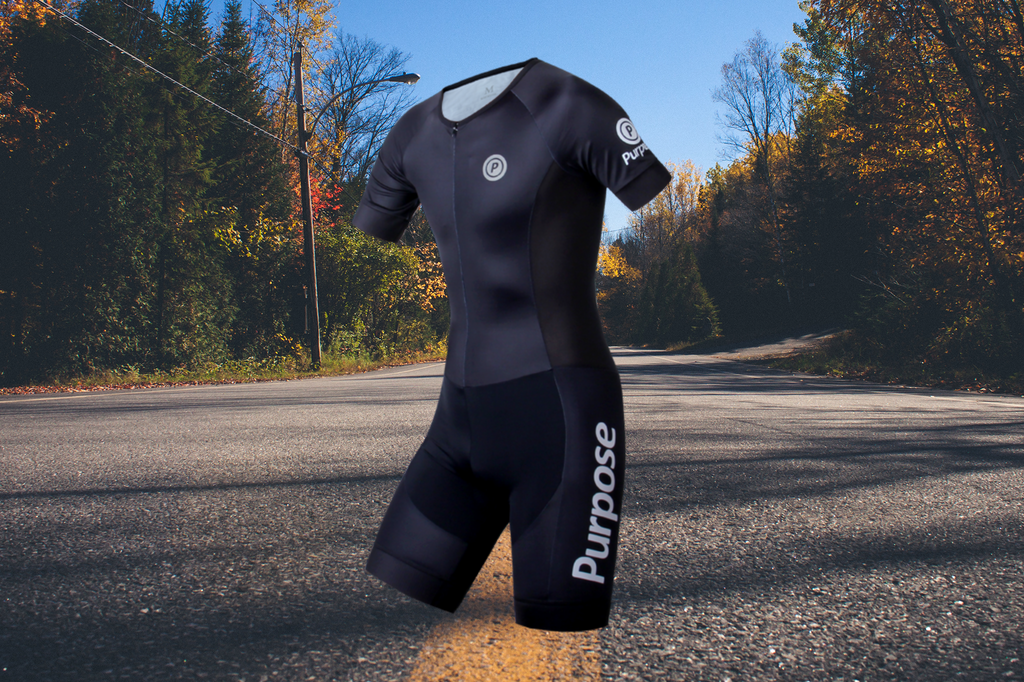 Purpose Team Elite Lightweight Tri Suit (Carbon Black, Sleeve)