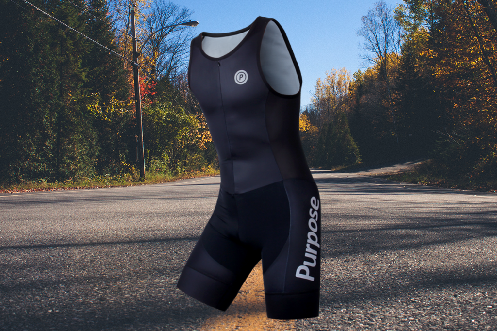 Purpose Team Elite Lightweight Sleeveless Tri Suit (Carbon Black)