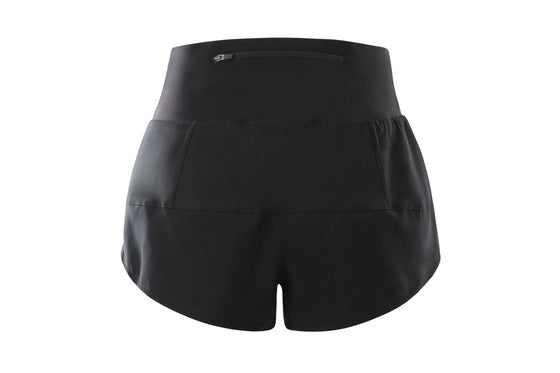 Women's High Waisted 4 Inch Running Shorts (Carbon Black)