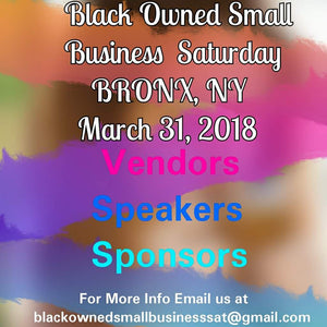 VENDOR Black Owned Small Business Sat Bronx, ny 3-31-18