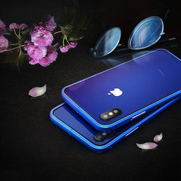 Minali® Full Color Metal & Glass Cover for iPhone X