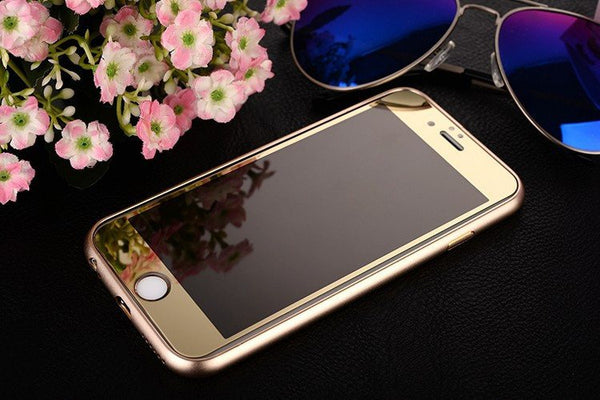 Minali® Full Color Metal & Glass Cover for iPhone