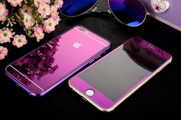Minali® Full Color Metal & Glass Cover for iPhone 7 - WorldWideCases