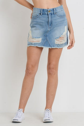 JBD Distressed Mini Skirt