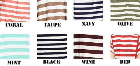 Curvy Go-To Stripe Top (Multiple Colors)