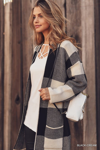 Checkered Cardigan