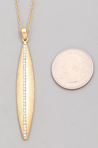 Thin Oval Pendant