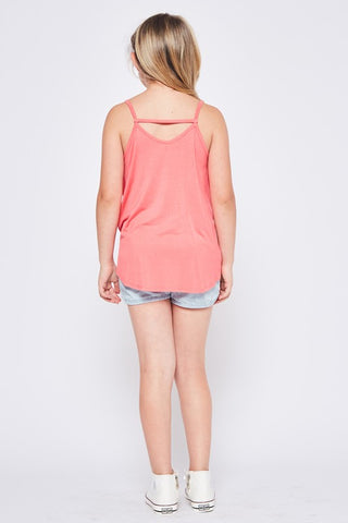 Girls/Junior Twist Tank (4 colors)