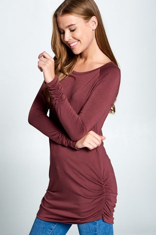 Ruched Tunic (4 colors)