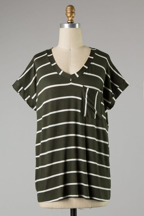 Basic Stripe Top Curvy
