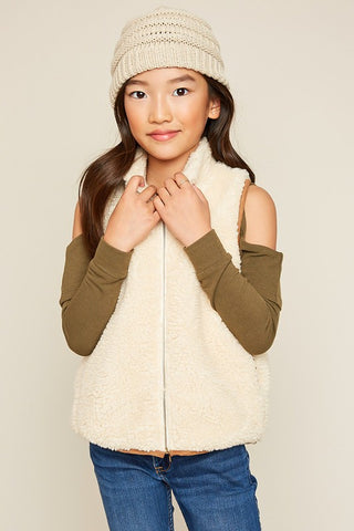 Girls Cream Vest