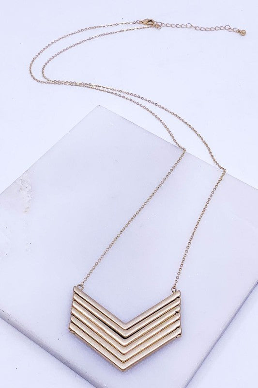Chevron Necklace (2 colors)
