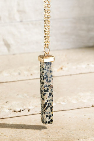 Stone Bar Pendant (5 colors)