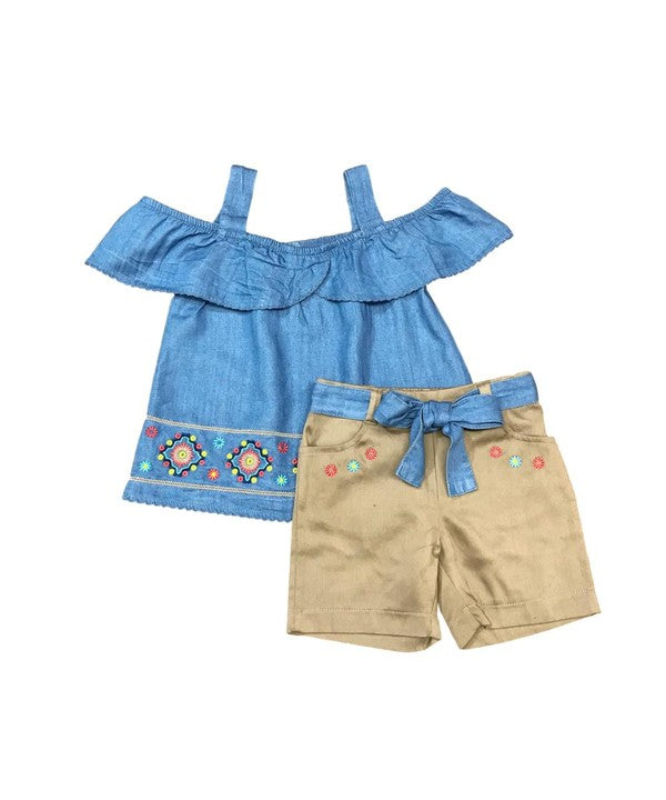 Girls Embroidered Set