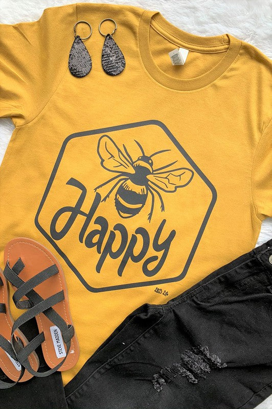BEE Happy Graphic Tee