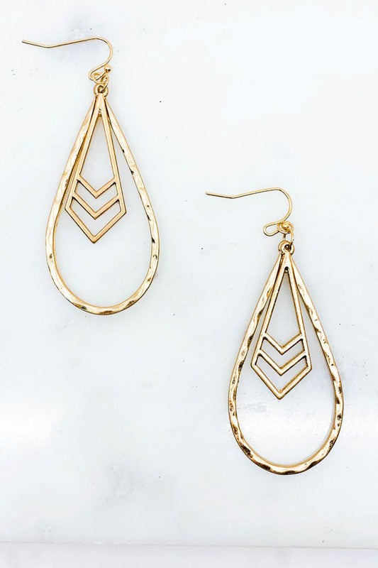 Hammered Chevron Earrings