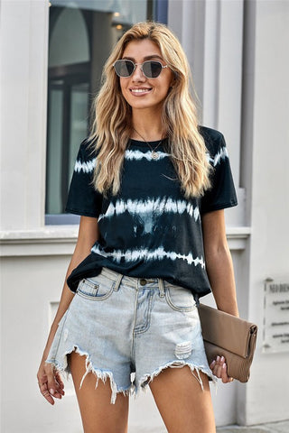 Striped Tie Dye Tee