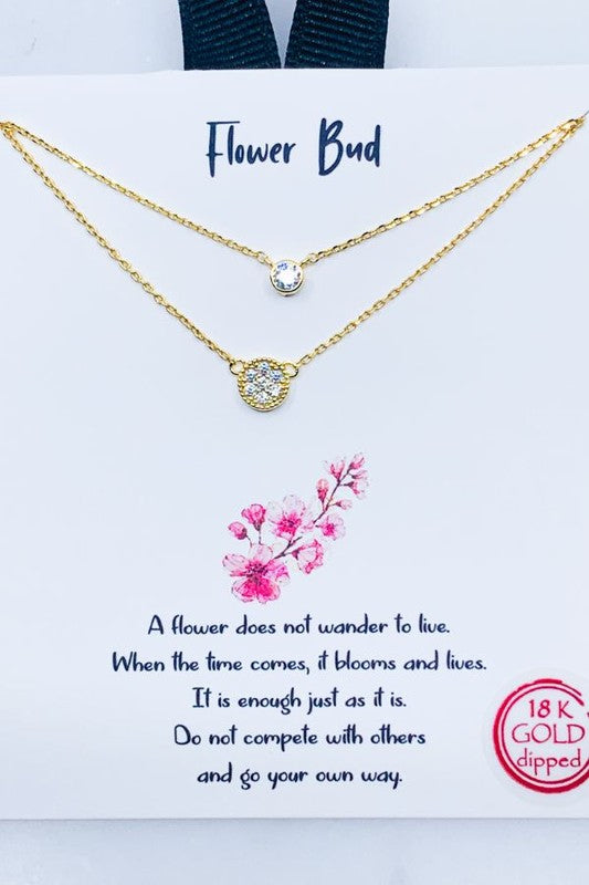 Flower Bud Necklace