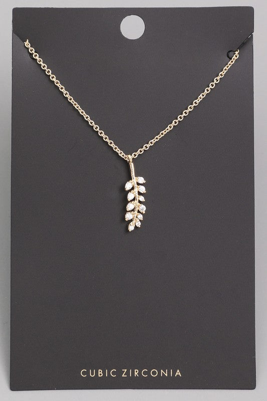 Dainty Feather Necklace