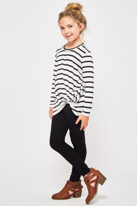 Girls/Junior Basic Stripe Top