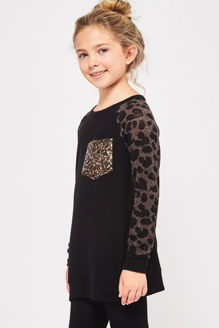 Sequin Leopard Top