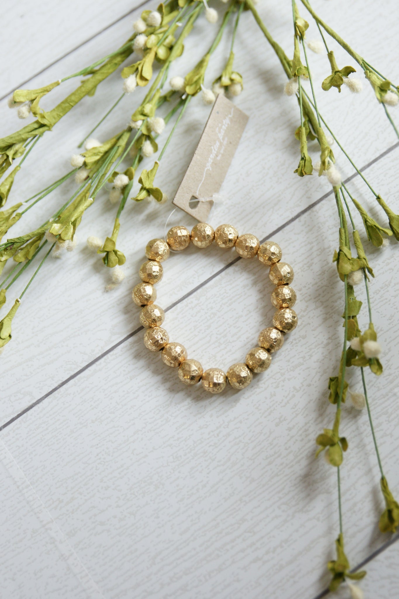 Gold Nugget Stackable Bracelet