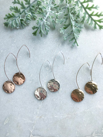 Hammered Medal Coin Earrings - Mandy Ellen