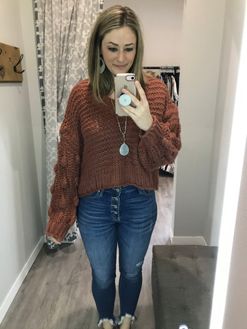 Hold Me Close Cinnamon Sweater