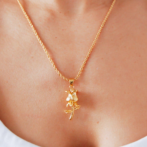 Rose Gold Charm Layering Necklace