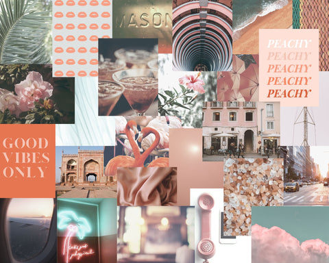 peachy collage kit, mint collage kit, collage kit pink, collage kit for wall, collage kit cheap, collage kit photos, tezza collage kit, by automatic reply nyc