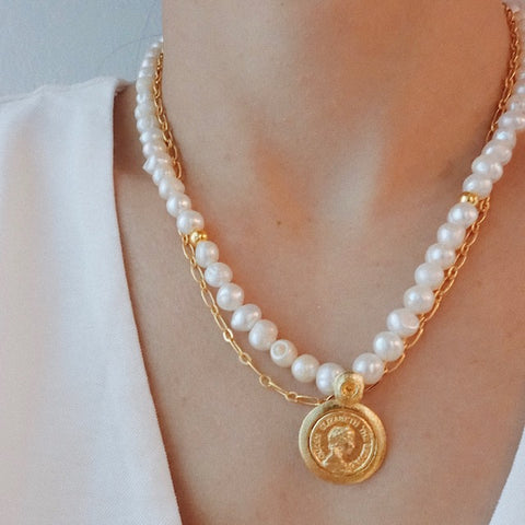 Elisabeta Coin Necklace