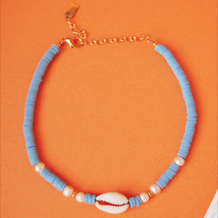 colorful heishi shell necklace