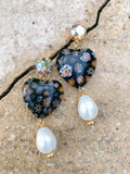 Nero Mixed Millefiori Dangling Earrings