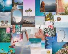 summer collage kit, summer aesthetic collage kit, summer aesthetic prints for room, collage kit for dorm, beach collage kit, by Automatic Reply NYC