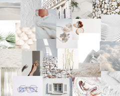 White Collage Kit - Minimalist Collage Kit - 26 Images - PHYSICAL PRODUCT