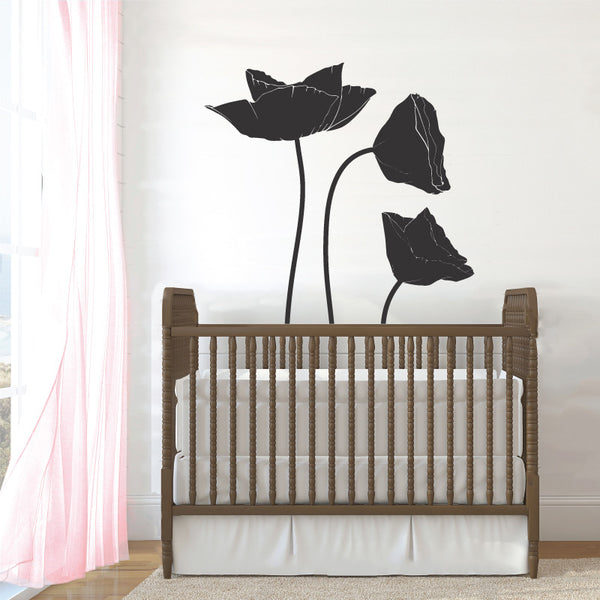 Poppy Flowers, 1 Color - Dana Decals - 1