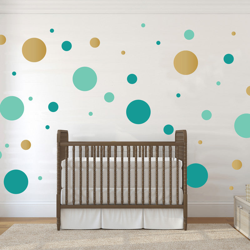 Multi-size Polka Dot Wall Pattern Decal, Three Color - Dana Decals - 1