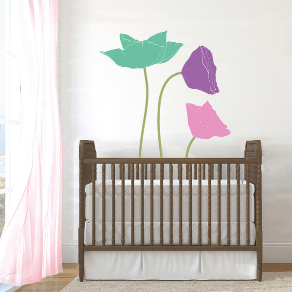 Poppy Flowers, 4 Color - Dana Decals - 1