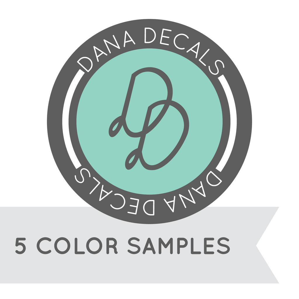 5 Color Sample - Dana Decals - 1
