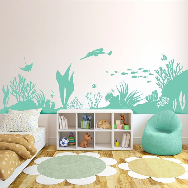 Under the Sea Coral Reef Sealife Scene - Dana Decals - 1
