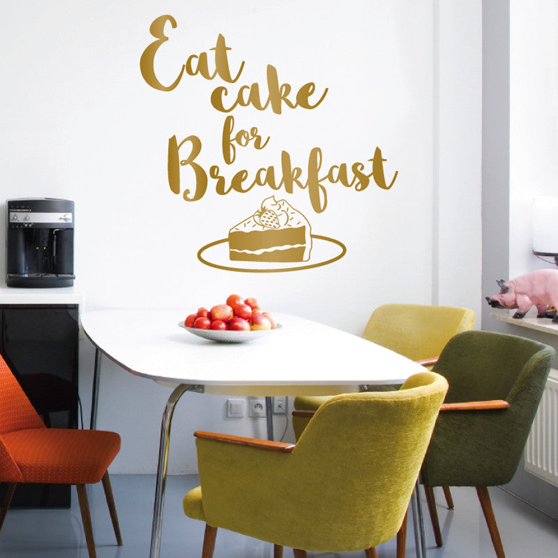 Eat Cake for Breakfast - Dana Decals
