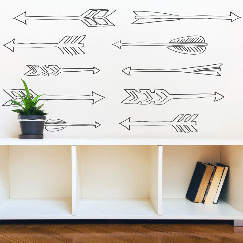 Doodle Style Arrows Wall Pattern - Dana Decals - 1