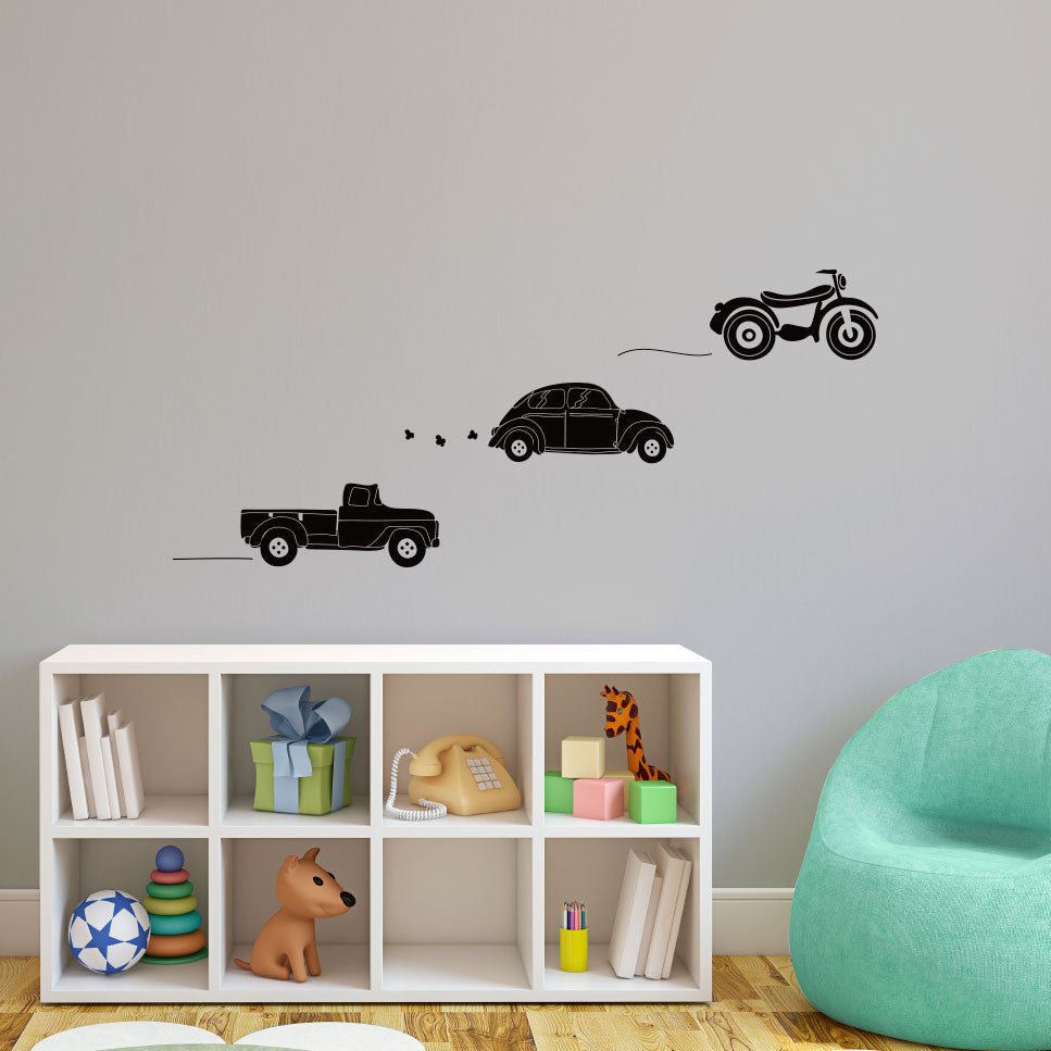 Doodled Toy Vehicles - Dana Decals
