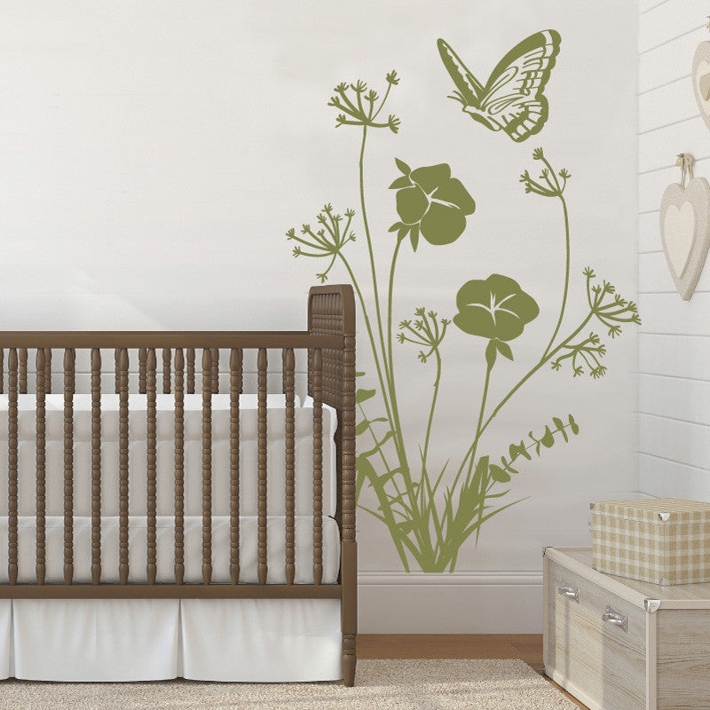 Cotton Flower and Butterfly - Dana Decals - 1