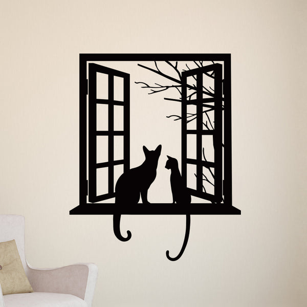 Cats looking through Window - Dana Decals