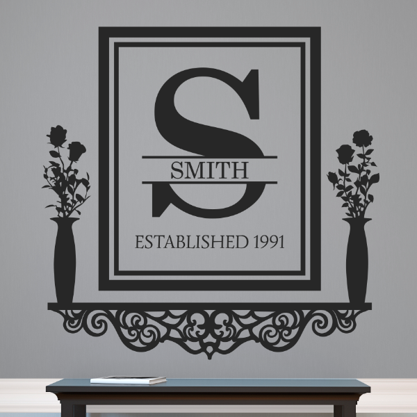 Personalized Victorian Family Established Frame Shelf - Dana Decals