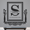 Personalized Victorian Family Established Frame Shelf - Dana Decals - 1