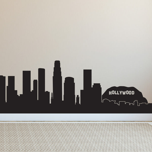 Los Angeles La Hollywood City Skyline Silhouette Vinyl