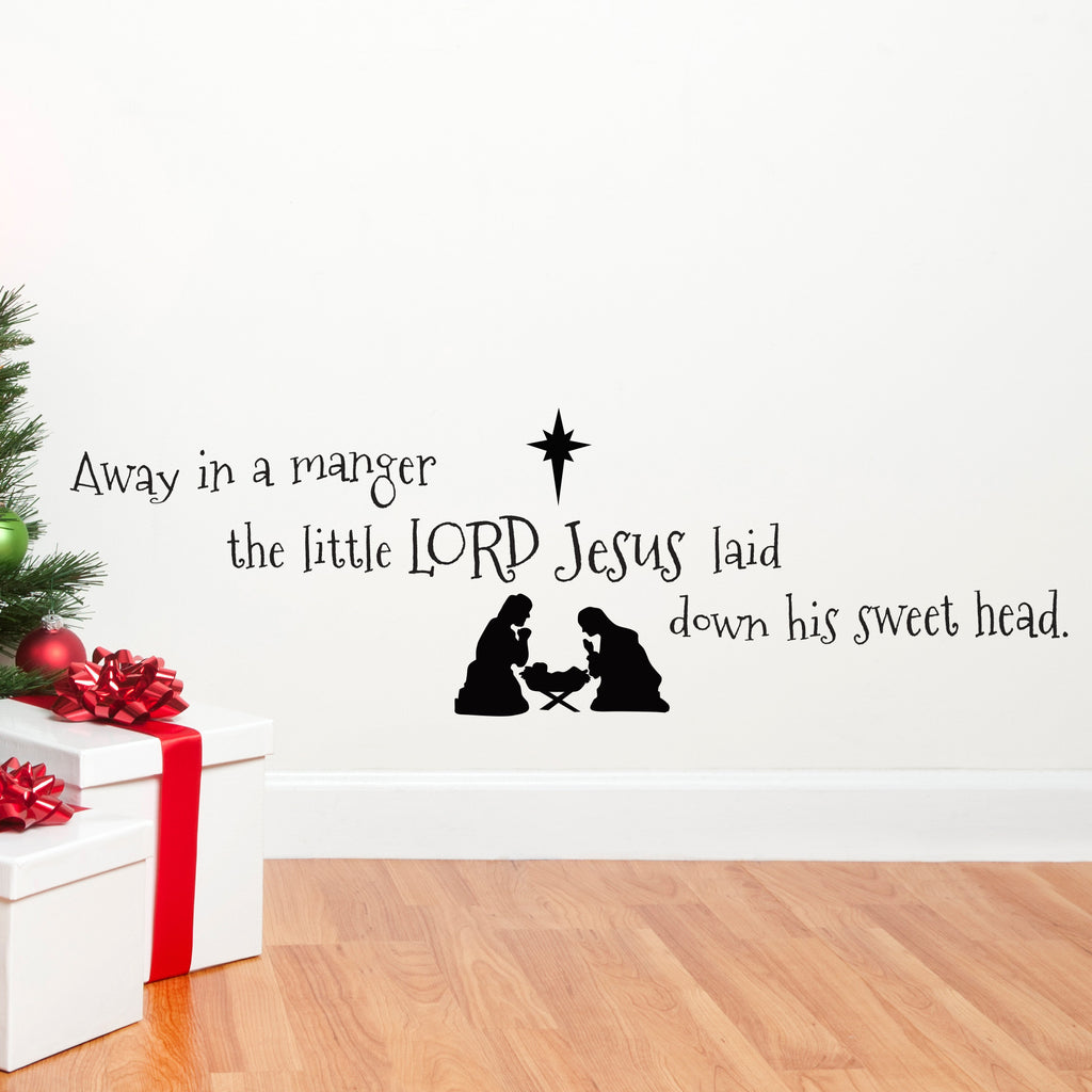 Away in a Manger Bible Quote - Dana Decals