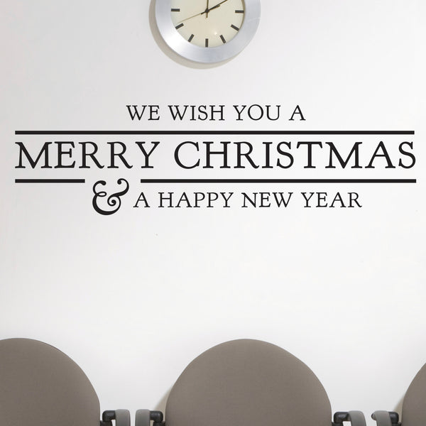 We Wish You A Merry Christmas - Dana Decals - 1